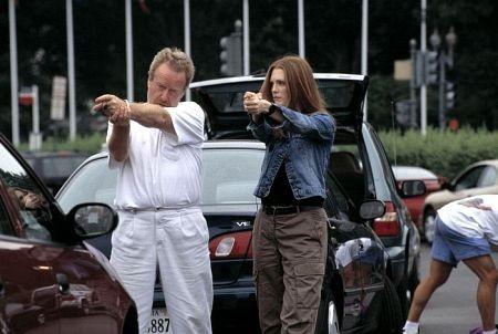 Ridley Scott e Julianne Moore sul set di Hannibal