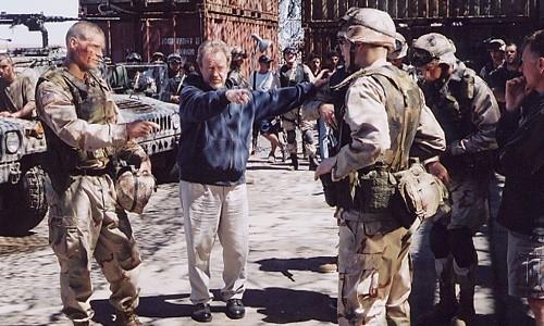 Ridley Scott sul set di Black Hawk Down