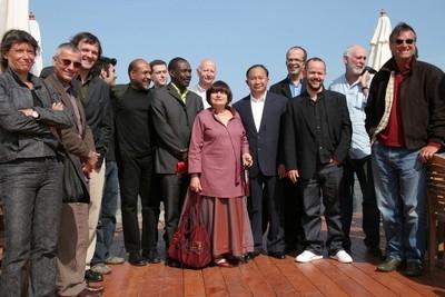 Foto di gruppo per le giurie di Cannes 2005