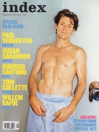 Willem Dafoe sulla cover del magazine Index