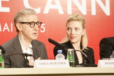 Woody Allen e Scarlett Johansson in conferenza a Cannes per Match Point