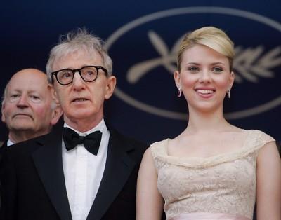 Woody Allen e Scarlett Johanssona Cannes per presentare Match Point