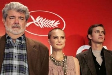 George Lucas, Natalie Portman e Hayden Christensen a Cannes