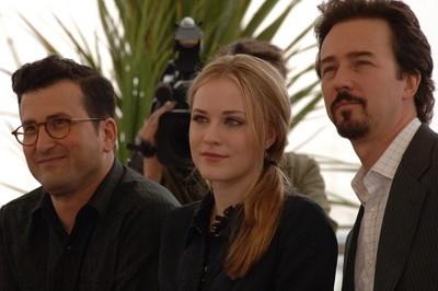 Il regista David Jacobson e gli interpreti Evan Rachel Wood e Edward Norton a Cannes per presentare il film Down in the Valley
