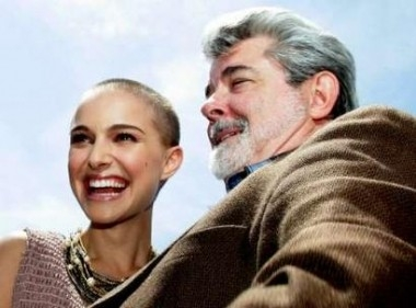 I sorrisi di Natalie Portman e George Lucas