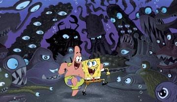 Una scena di SpongeBob il film