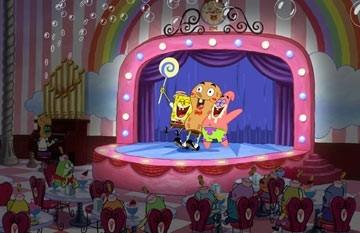 Una scena del film d'animazione The SpongeBob SquarePants Movie
