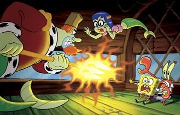 Una scena di The SpongeBob SquarePants Movie con i protagonisti del cartoon