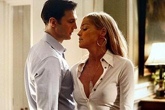 Sharon Stone - nei panni della sexy Catherine Tramell - insieme a David Morrissey in Basic Instinct 2: Risk Addiction