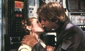 Il bacio tra la principessa Leia e Han Solo