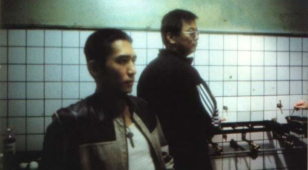 Tony Leung e il regista Wong Kar-Wai sul set di Happy Together
