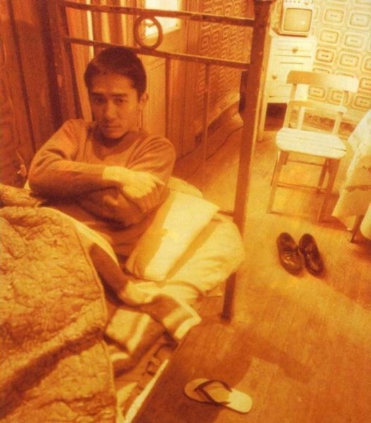 Tony Leung in una foto di scena per Happy Together di Wong Kar-wai