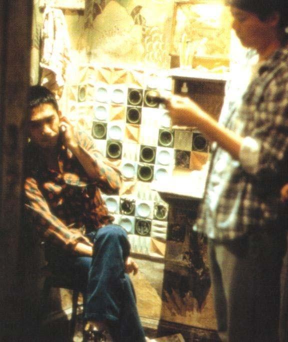 Tony Leung sul set di Happy Together (1997)