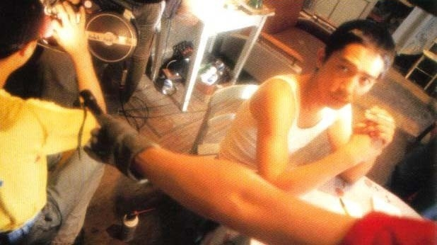 Tony Leung sul set di Happy Together