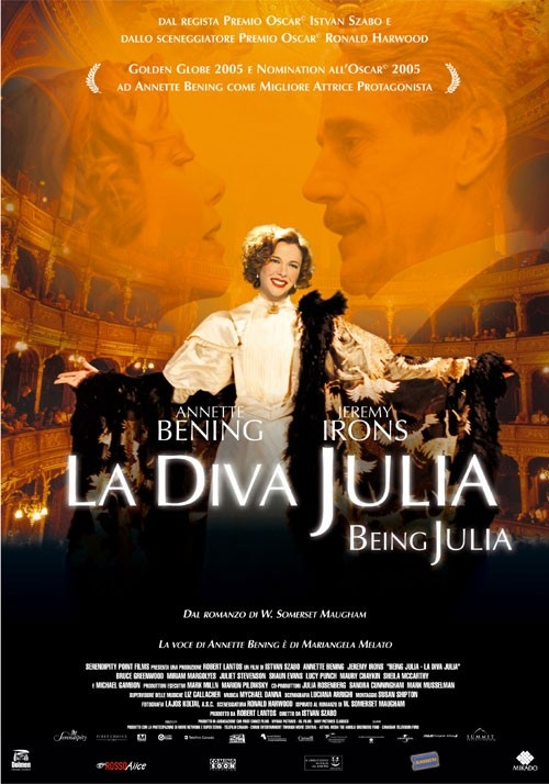 La locandina italiana di La diva Julia - Being Julia