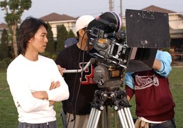 Stephen Chow sul set di Kung Fusion