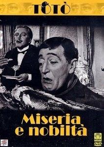 La copertina DVD di Miseria e nobiltà