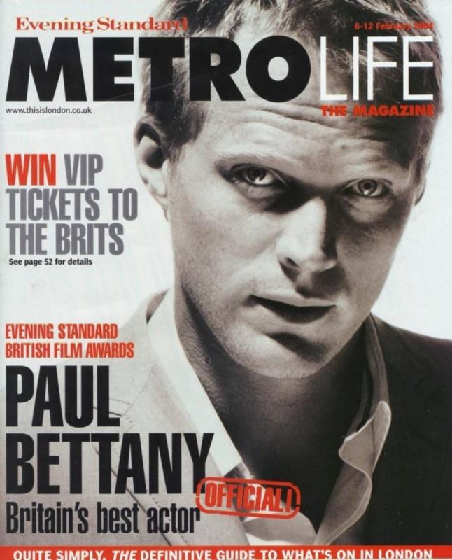 Paul Bettany sulla cover del magazine Metro