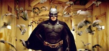 Christian Bale in una scena del film di Christopher Nolan, Batman Begins