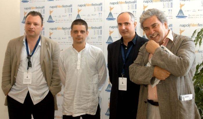 La giuria del Napoli Film Festival 2005: Frederic Fonteyne, Peter Birro, Nick Vivarelli e Javier Rioyo.