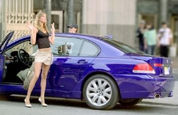 Gisele Bundchen in una scena di New York Taxi