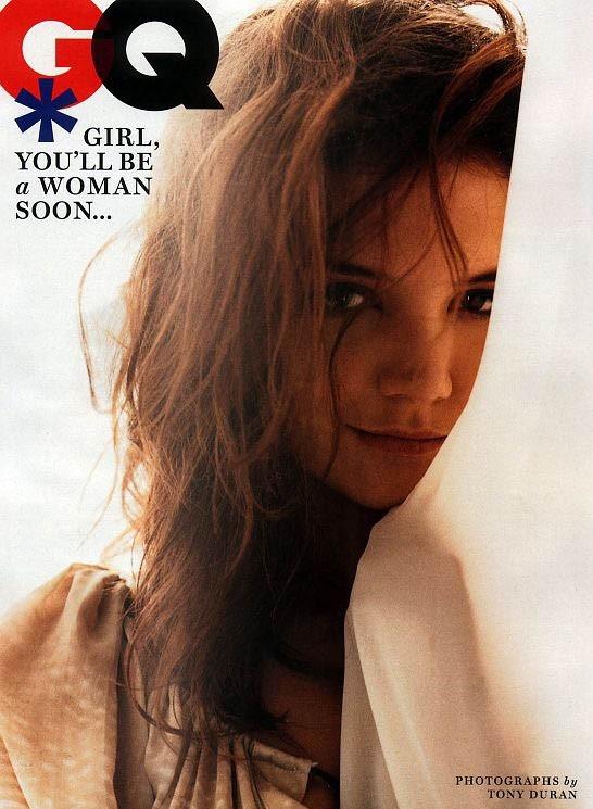 Katie Holmes sulla cover di un magazine