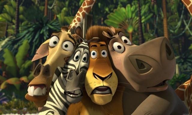 Una scena del cartoon Madagascar