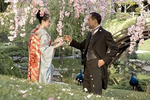 Zhang Ziyi e Ken Watanabe in una scena di Memorie di una geisha