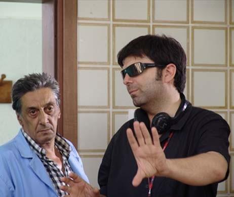 Flavio Bucci e Stefano Galvagna sul set de L'uomo spezzato