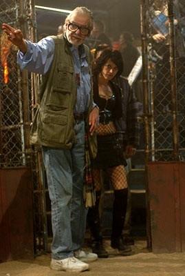 George A. Romero ed Asia Argento sul set di Land of the Dead
