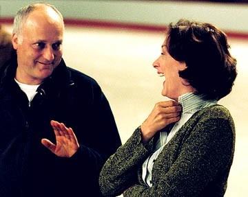 Tym Fywell e Joan Cusack sul set di Ice Princess