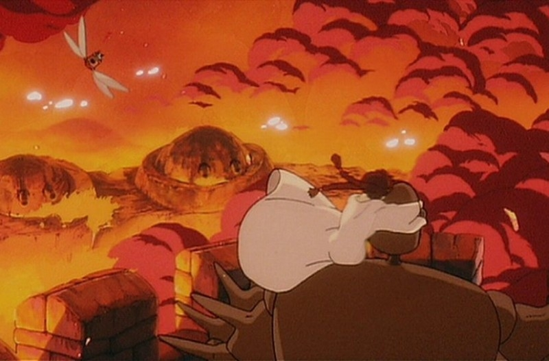 Il castello nel cielo: una colorata scena del film d'animazione di Hayao Miyazaki