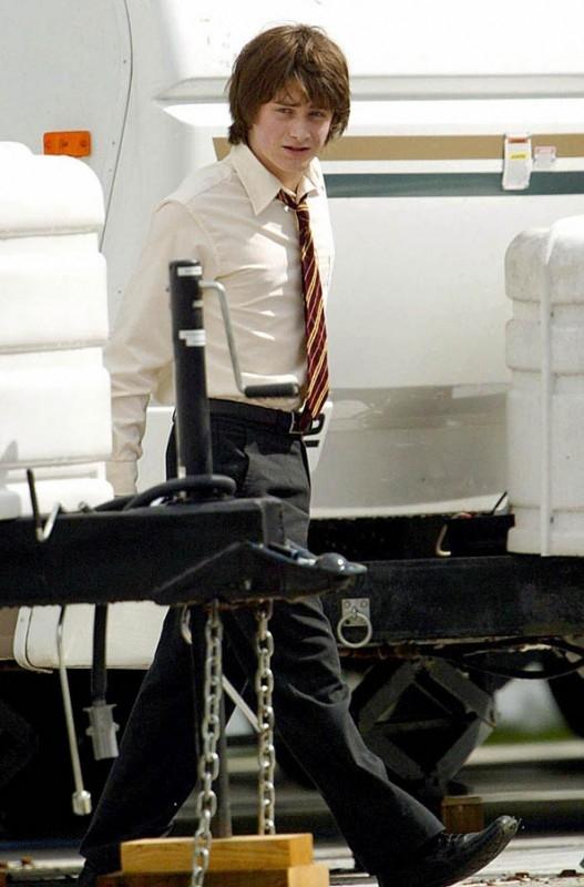 Daniel Radcliffe sul set di Harry Potter e il calice di fuoco