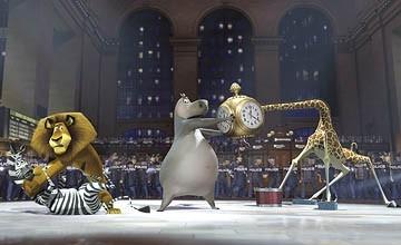 Una scena di Madagascar, diretto da Eric Darnell e Tom McGrath