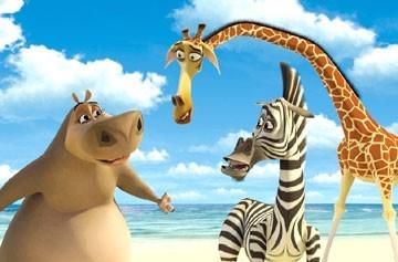 Una scena di Madagascar, il cartoon della Dreamworks