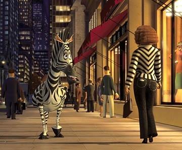 Una scena di Madagascar, realizzato dalla Dreamwork nel 2005