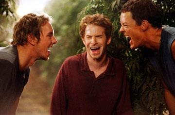 Dax Shepard, Matthew Lillard e Seth Green in una scena di Without a Paddle