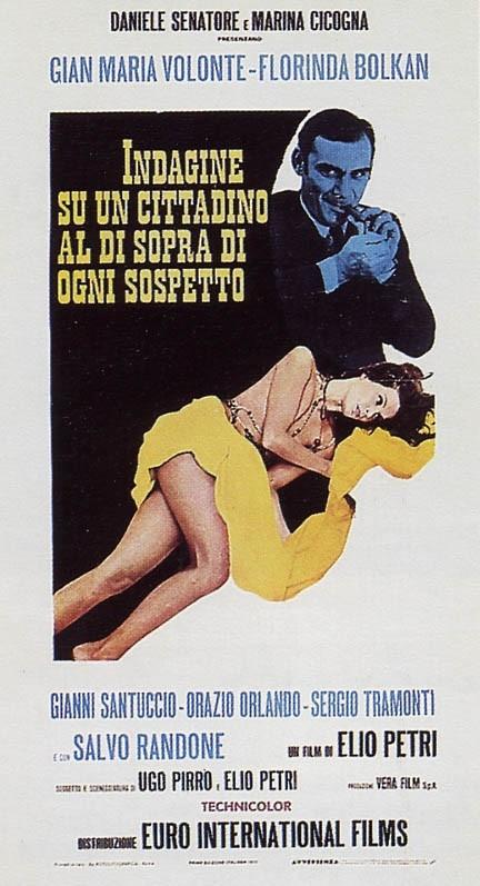 Il manifesto italiano di Indagine su un cittadino al di sopra di ogni sospetto