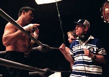 Russell Crowe e Ron Howard sul set di Cinderella Man