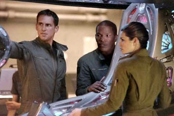 Josh Lucas, Jessica Biel e Jamie Foxx in Stealth - Arma suprema