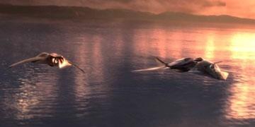 Una scena del film Stealth - Arma suprema