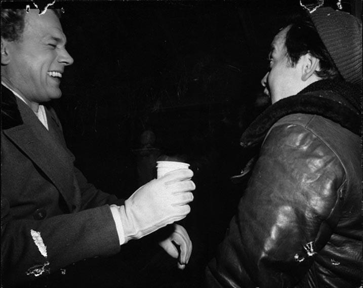 Joseph Cotten ed Orson Welles sul set de L'orgoglio degli Amberson