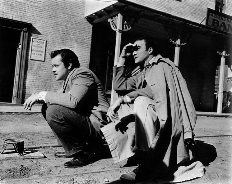 Stanley Cortez ed Orson Welles sul set de L'orgoglio degli Amberson