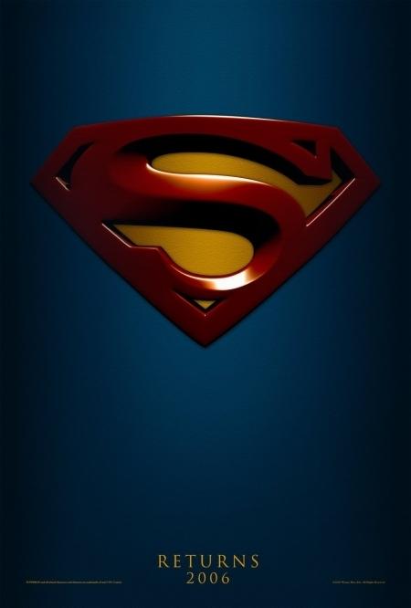 La locandina di Superman Returns con il logo del supereroe