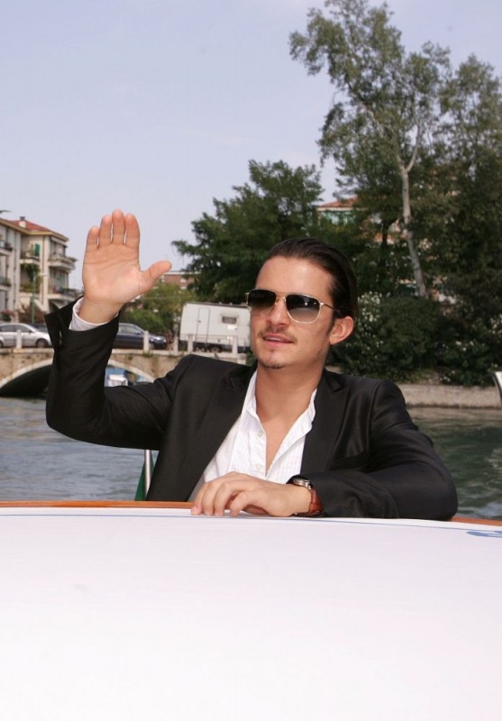 Orlando Bloom a Venezia per il film Elizabethtown