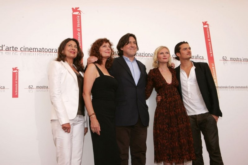 Paula Wagner, Susan Sarandon, Cameron Crowe, Kirsten Dunst e Orlando Bloom a Venezia per il film Elizabethtown