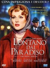 La copertina DVD di Lontano dal paradiso