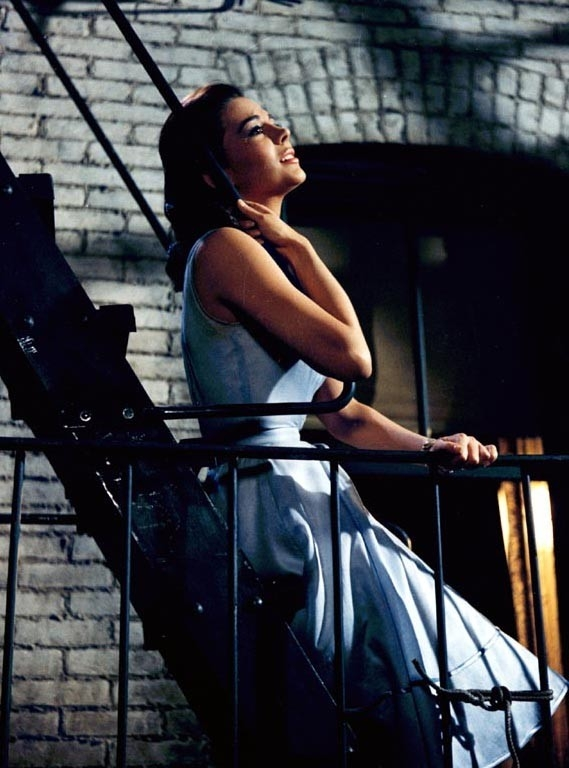 Natalie Wood in una scena di West Side Story