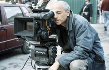 Roberto Faenza sul set de I giorni dell'abbandono