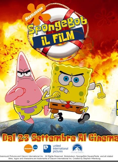 la locandina italiana di SpongeBob il film